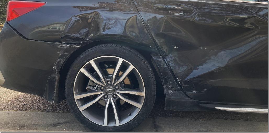 Acura TLX damage