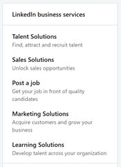 LinkedIn business services