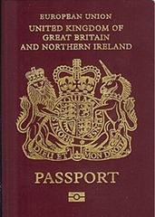 UK passport with EU