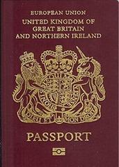 UK passport with EU