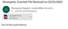 Scam Email from OneDrive