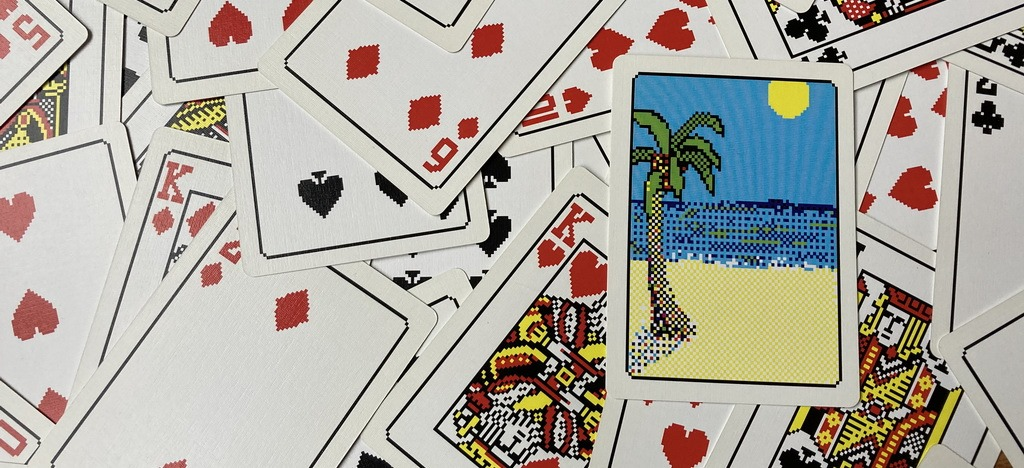 Shuffled Solitaire cards