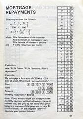 Mortgage repayment program