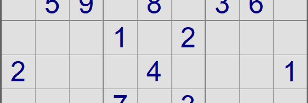 Example Sudoku puzzle - banner