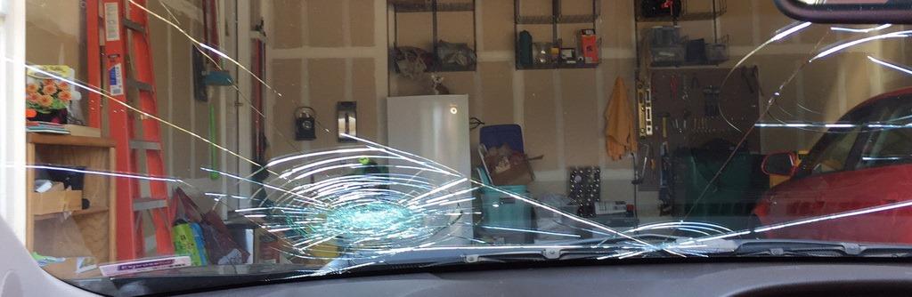 Smashed windscreen - banner
