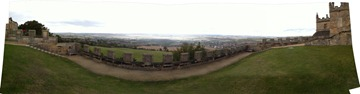 180degree panorama from Bolsover Castle