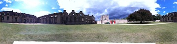 Bolsover outer courtyard panorama