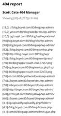 404 report