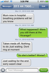 Texts about Mum