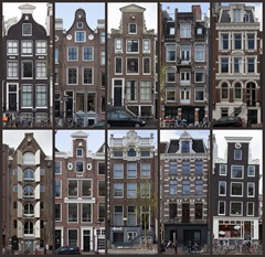Collage of Amsterdam Canal Houses