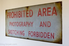 Prohibited area sign