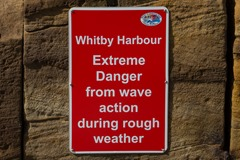 Whitby wave action warning