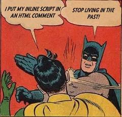 Batman slaps Robin about inline script