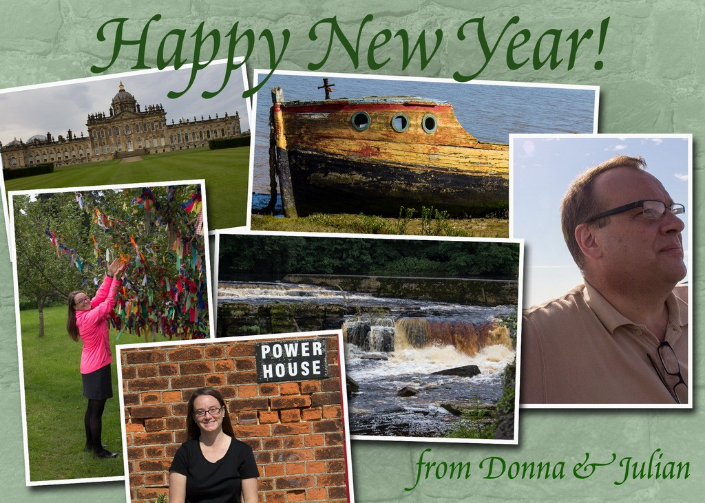 photo collage as new year card