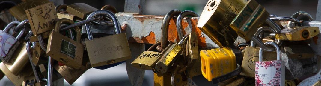 Locks on Bridge - banner