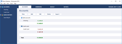 MoneyspireUX - main window - Accounts