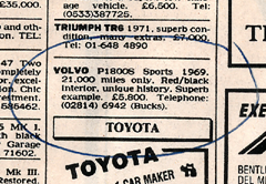 Ad For Volvo 1800S