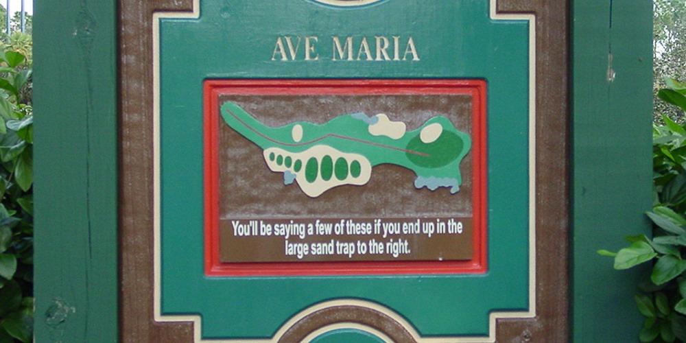Mini-golf Warning