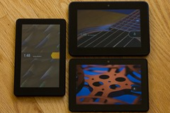 Three generations of Kindle Fire