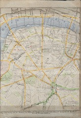 Southwark 1766 superimposed with modern map