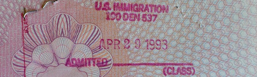 Entry stamp 1993 - banner