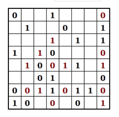 Example Binary Puzzle - Step 2