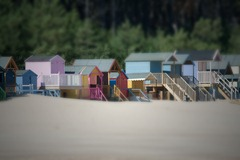 More beach huts at Wells