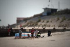 Preparing for the beach