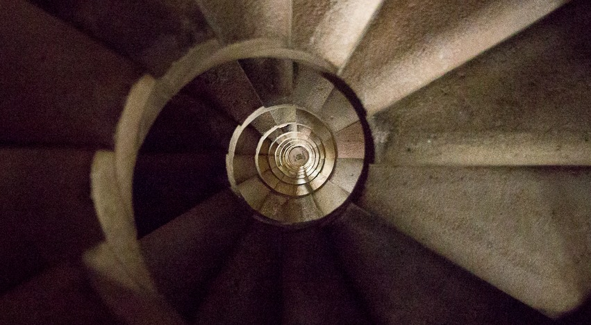 Sagrada Familia spriral staircase