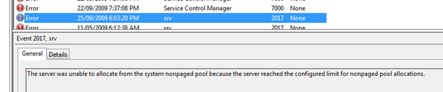 Event in event viewer